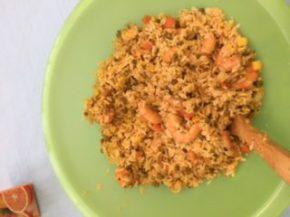 Riz chahan au poulet ou aux crevettes?